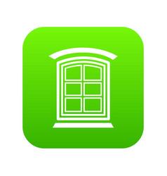Retro window frame icon green vector