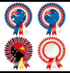 rosettes to represent australasia including austra vector image
