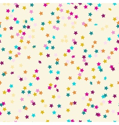 Seamless pattern of colored confetti in the shape vector