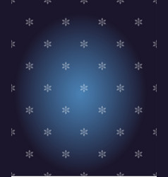 seamless pattern with snowflakes winter vector image