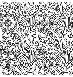 seamless pattern zentangle ornament coloring book vector image