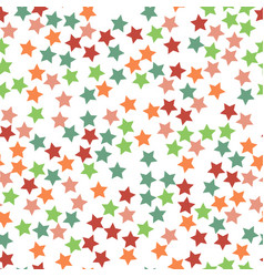 seamless stars pattern vector image