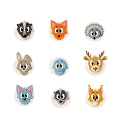 Set snouts forest animals vector