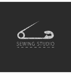 Sewing simple badge vector