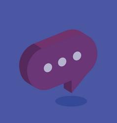 speech bubble isometric icon vector image