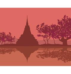 Sukhothai Historical Park Sukhothai Province vector image
