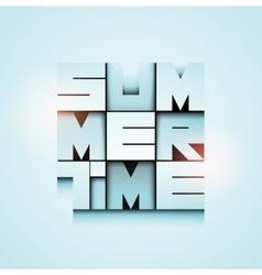 Summer Time poster design Eps 10 vector image