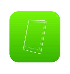 tablet computer icon green vector image
