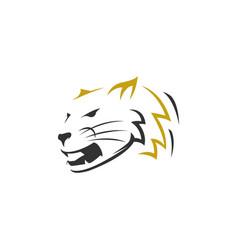 tiger head line art logo icon vector image