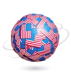 US flags sphere vector