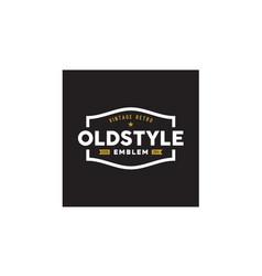 Vintage classic retro badge fashion label logo vector