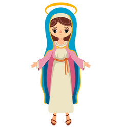 Virgin mary saint mary the mother of god vector