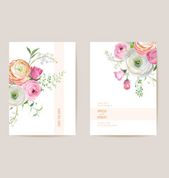 wedding dried ranunculus rose lily floral save vector image