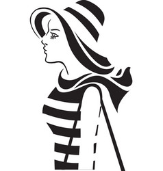 woman in the hat vector image