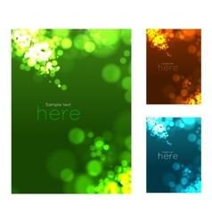 Abstract circular bokeh background vector image vector image