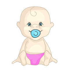 baby in nappy vector image