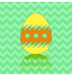 Colored Easter Egg Silhouette vector image