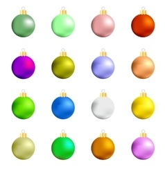 Colorful glass balls collection vector