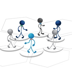 People team diagram design vector image vector image