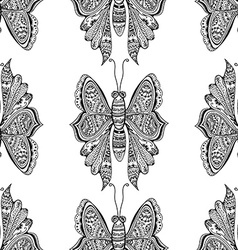 stylized brown Butterfly vector image vector image