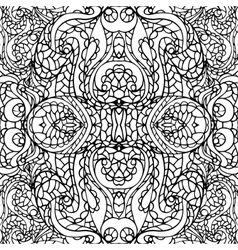Abstract symmetry swirl ethnic seamless pattern vector image