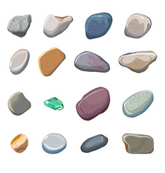 sea stones isolated on white background vector image