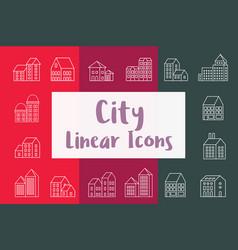 set city urban vector image vector image