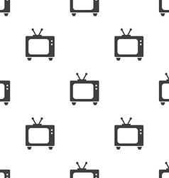tv seamless pattern vector image