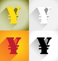 Yen currency symbol vector image vector image