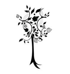 abstract tree vector image vector image