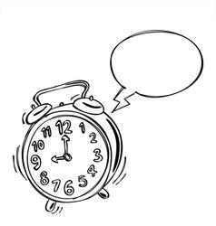 Alarm Clock Bubble Speech vector image