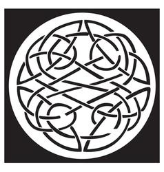 celtic knot pattern design vector image