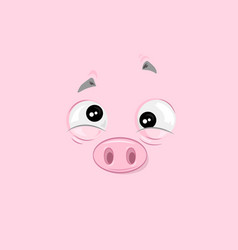 feeling of nausea piggy vector image vector image