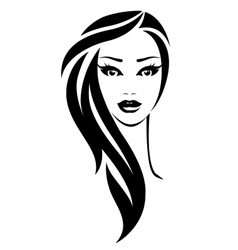 young pretty woman vector image