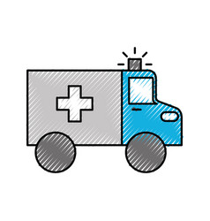 ambulance vehicle transport urgency help accident vector image
