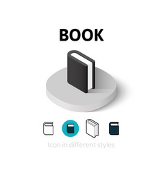 Book icon in different style vector image vector image