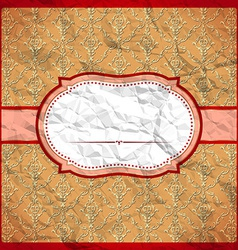 Crumpled vintage frame vector image vector image