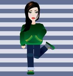 Dance girl vector image