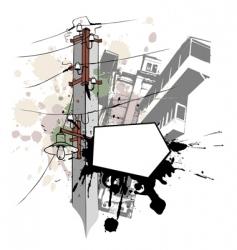 grunge lamp vector image