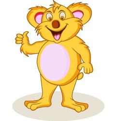 koala cartoon vector image vector image