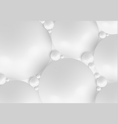 3d realistic white organic spheres ball pattern vector image