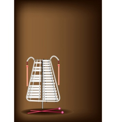 A Musical Bell Lyra on Dark Brown Background vector image