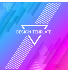 abstract creative concept layout template vector image
