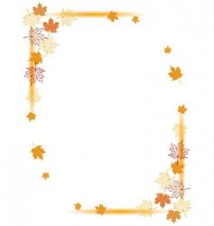 Autumn background maple leafs vector