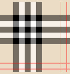 background in scottish cage burberry vector image
