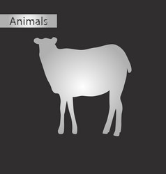 Black and white style icon of sheep vector