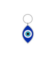 Blue evil eye traditional amulet or nazar flat vector