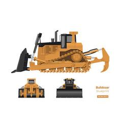 bulldozer in realistic style vector image