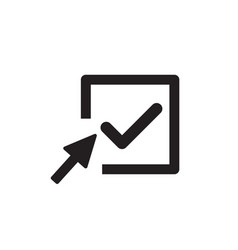 check mark logo icon tick symbol in box vector image