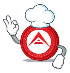 Chef ark coin character cartoon vector